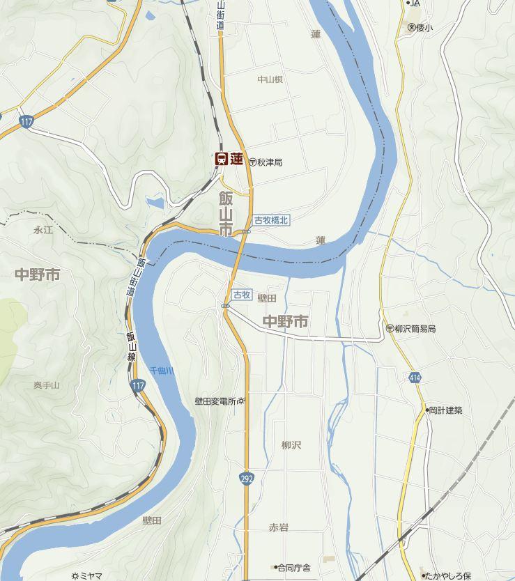 中野市壁田地図